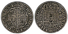 4 SILVER REALES/PLATA. CHARLES III - CARLOS III.  MADRID 1761. VF/MBC. BONITA.