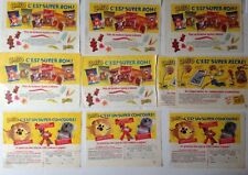 LOT PUBLICITES ANNEES 80 SPECIAL BONBONS JELL'O