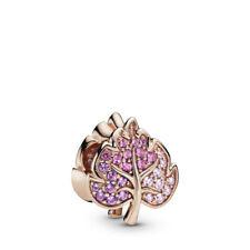 Authentic Pandora Sparkling Pavé Leaf Rose 788322NPMMX Charm pouch