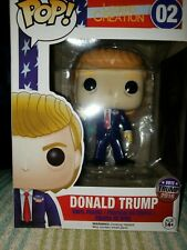 Funko Pop Donald Trump #02 Campaign 2016 Rock The Vote Rare U.S Seller