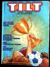 TILT Microloisirs n°35 de 10/1986; Tous les sports d'équipe/ Thomson 86