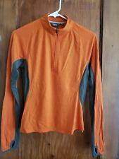 Ibex Merino Wool Long Sleeve 1/2 Zip Orange Women's Medium