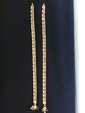Indian Bollywood Silver Ankle Bracelet Payal Anklet Women Jewelry. For the pair