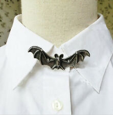 Pin Brooch pewter Bat Crystal Broche étain Chauve-souris Gothique Gothic Vampire