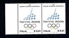 ITALIA REP. - 2002 - XX giochi olimpici invernali, a Torino 0,41€ 2 valori bdf