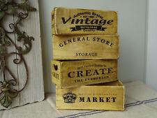 D8 | 4 x Holzkiste | Vintage | Create | General Store | Market | Kiste