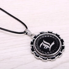 DEATH NOTE L Logo 360° Rotatable Necklace Pendant Charm Cosplay Gifts