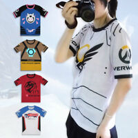 Game Overwatch Cotton Unisex Tops Tracer DVA Tee OW Casual Short Sleeve T Shirt