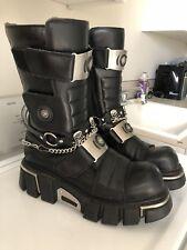 NEW ROCK BOOTS Rock Reactor Boots (Black) Punk Goth Biker 11 Demonia