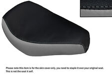GREY & BLACK CUSTOM FITS AJS REGAL RAPTOR DD 250 E FRONT LEATHER SEAT COVER