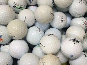 100 Crossgolfbälle, Cross - Golfbälle, Crossgolf, Markenmix, zum Verheißen