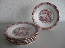 Seltmann Weiden Porzellan Dorothea China Rot 6 Kuchenteller/ Frühstücksteller