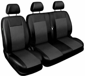 Seat covers fit Ford Transit Custom 2015 2016 2017 2018 2019 2020 leatherette