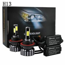 120W 12800lm 4 Sides COB LED Headlight Kits H13 9008 Hi/Low Beam 6000K Bulbs US