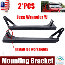"52""inch LED Light Bar Upper & Lower Mounting Brackets For 87-95 Jeep Wrangler YJ"