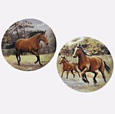 "New ListingHorse Collector Plates Tone World Hautman Brothers Porcelain 8.25"" Vintage 2001"