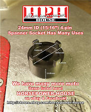 24mm OIL FILTER & CLUTCH SOCKET ENGINE MOUNT NUT ROTOR TOOL for HONDA AND MORE
