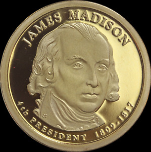 """2007 S James Madison Presidential Dollar Gem Deep Cameo """"PROOF"""" US Mint Coin"""