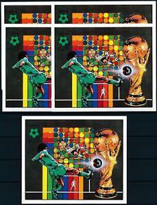 [PG10131] Libya 1982 Football good sheets (5) very fine MNH