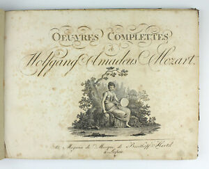 Alte Noten Mozart Pianoforte Klavier um 1798 selten Klavier Leipzig
