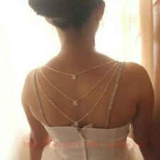 CRYSTAL BRIDAL   MULTI LAYER TASSEL BACK CHAIN LINGERIE BRA STRAPS - UK SELLER
