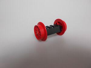 Lego® Eisenbahn Zubehör 1x Achse 2x4 mit Räder rot 29mm aus Set 7750