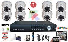 8 Ch Dvr 960H Hdmi Security 1200Tvl1.3 Mp 720P 8 Pcs Varifocal Dome Camera Set