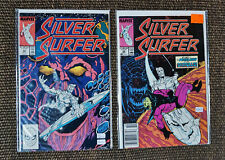 Silver Surfer #22 & #28 (Marvel, 1989, 2nd Series) (Lot of 2 comic books) VF/NM