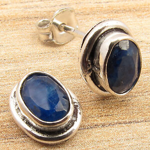 925 Silver Plated SAPPHIRE Earrings ONE OF A KIND Store ! Price Start From $0.99