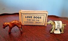 """LOVE DOGS """"They do the Darndest Tricks"""" Cast Metal OCCUPIED JAPAN  New in Box"""