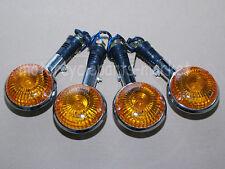 4 Pcs Yamaha Turn Signals AMBER Front / Rear Indicator Winker Blinker Chrome