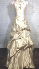 Vtg Jessica McClintock Gunne Sax Formal Prom Dress Sz 7 Ivory Long Rhinestone
