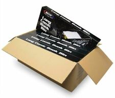 5 BCW Long Comic Book Bins - Black Plastic Storage Box, No PO Box