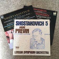 SHOSTAKOVICH 5 ANDRE PREVIN LSO LP 2x Free LPs Shostakovitch Rachmaninov Ormandy