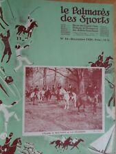 LE PALMARES DES SPORTS 1928 - 1930 POLO GOLF TENNIS YACHTING VENERIE HIPPISME ..