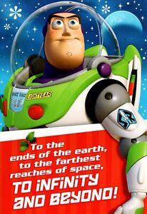 Merry Christmas Grandson Toy Story Theme Buzz Lightyear Theme Hallmark Card
