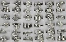 Mixed Design Lots 20pcs Stainless steel Popular Cool Unique rings L833