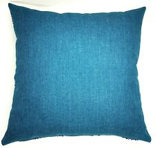 Handmade Plsin Teal Textured Home Decor Cushion Cover  45x45  New