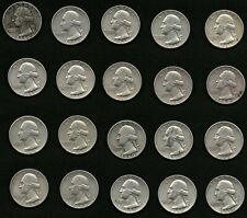 Lot of 20 Washington Silver Quarters Coins Years: 1959, 1960, 1961