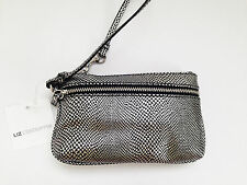 BNWT Authentic LIZ CLAIBORNE Zip-It Wallet Wristlet Pewter Python FREE SHIP
