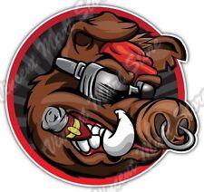 """Wild Boar Cool Pig Cigar Hunting Bacon Car Bumper Vinyl Sticker Decal 4.6"""""""