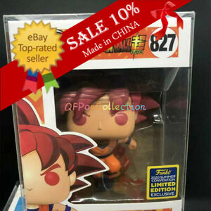 Funko Pop! Dragon Ball Z SSG Goku #827 Limited Edition Exclusive MINT +Protector