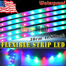 """12"""" 32LED RGB Flexible Strip Underbody Light Waterproof For Car Motorcycle DC12V"""