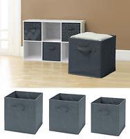 Folding Square Storage Utility Box Fabric Cube Drawer Organizer Cloth Basket Bag