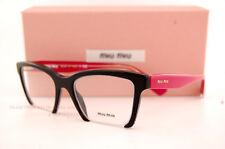 Brand New Miu Miu Eyeglass Frames MU 04N 04NV 1AB1O1 BLACK/RED For Women