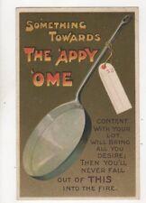 Something Towards The Appy Ome Frying Pan [E306] 1910 Comic Postcard Birn 253b