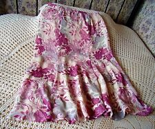 Floral party skirt by JACQUES VERT Size 16 Deep cream with pink & grey