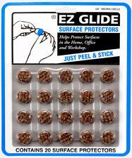 "12 Cards EZ Glide 5/8"" Brown Circle Felt Surface Protectors (Total 240 Pieces)"