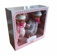 Little Baby Twins Set of 2 baby Dolls With Dummy Accessory - Pink & Purple