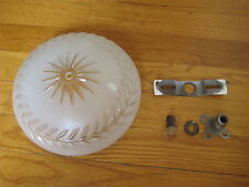 vtg glass Ceiling LIGHT FIXTURE starburst 1930's retro art deco crafts antique